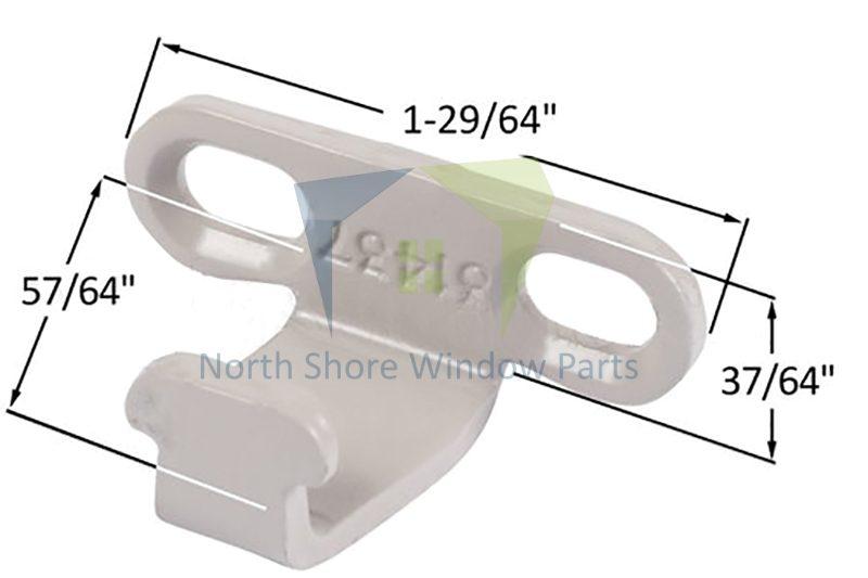 Sash Lock Keeper (Slotted Hole) (Truth Hardware 31437) 1