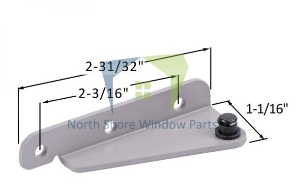 Stud Bracket with Snap Stud (Truth Hardware 11276, 11277) (Left)