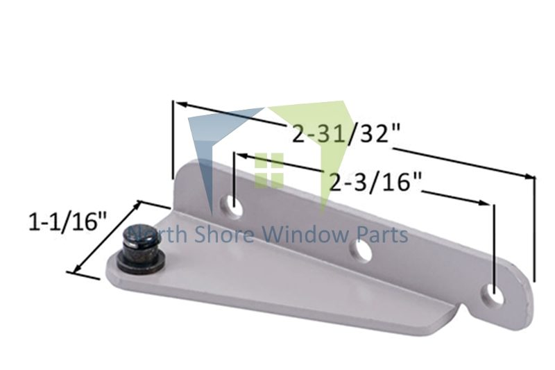 Stud Bracket with Snap Stud (Truth Hardware 11276, 11277) (Right)