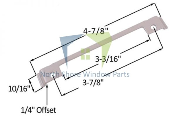 "Support Plate (Truth Hardware 'Maxim') (Offset 1/4"")"