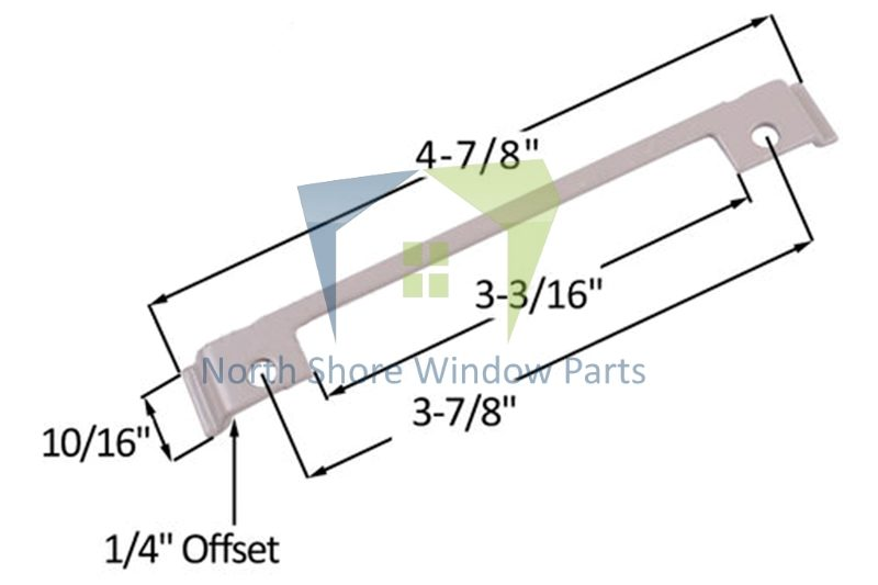"""Support Plate (Truth Hardware 'Maxim') (Offset 1/4"""")"""